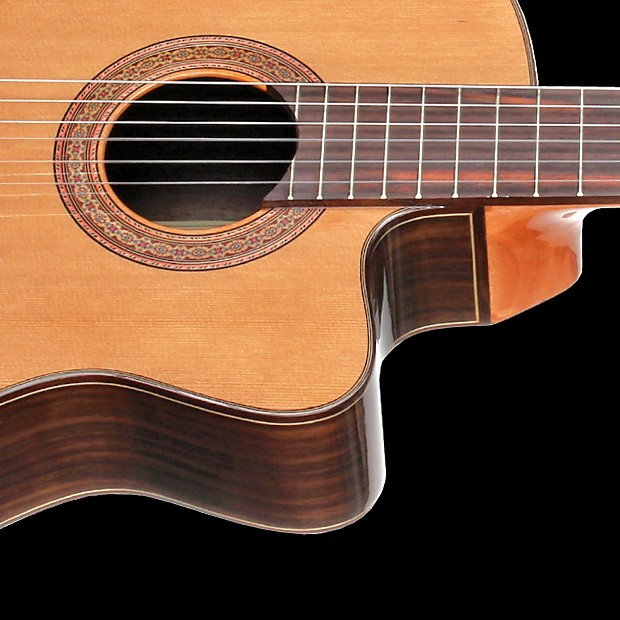 teton stc155cent acoustic electric classical nylon string reverb. Black Bedroom Furniture Sets. Home Design Ideas