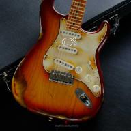 Fender Stratocaster American Sienna Sunburst Maple Made in USA Aged Relic