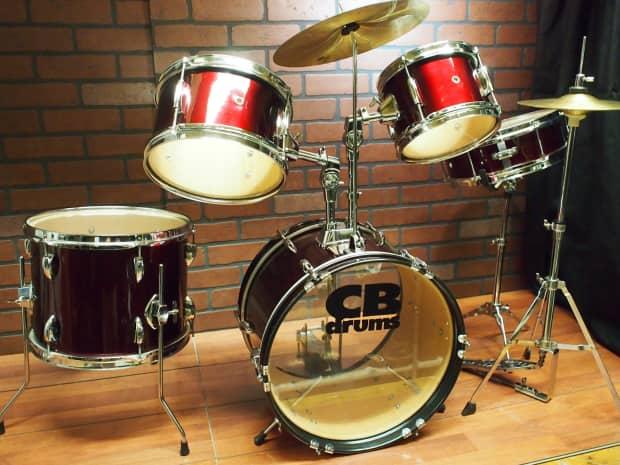 cb drums jrx55 junior 5 piece drum set reverb. Black Bedroom Furniture Sets. Home Design Ideas