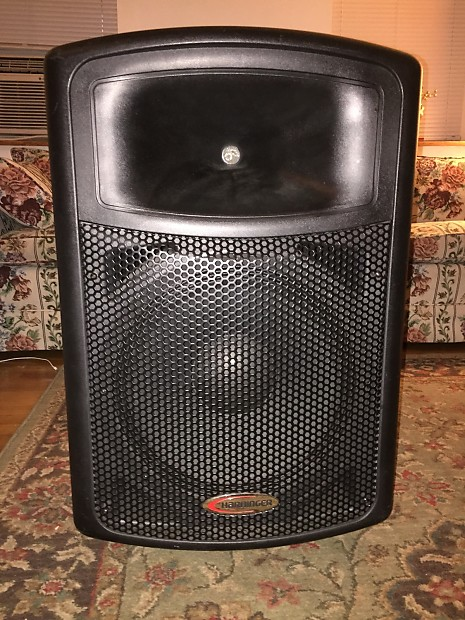 harbinger aps15 200w 3 channel active powered speaker reverb. Black Bedroom Furniture Sets. Home Design Ideas