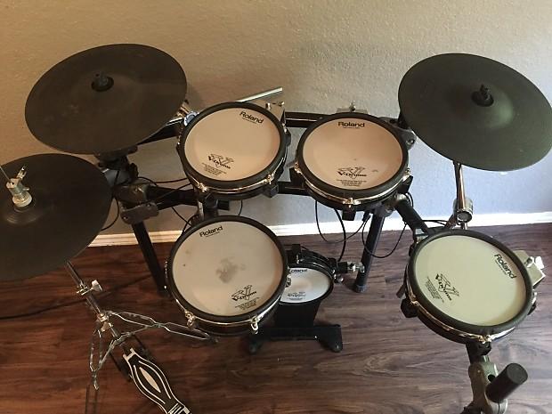 roland td 12 v drum digital drum set kit excellent used reverb