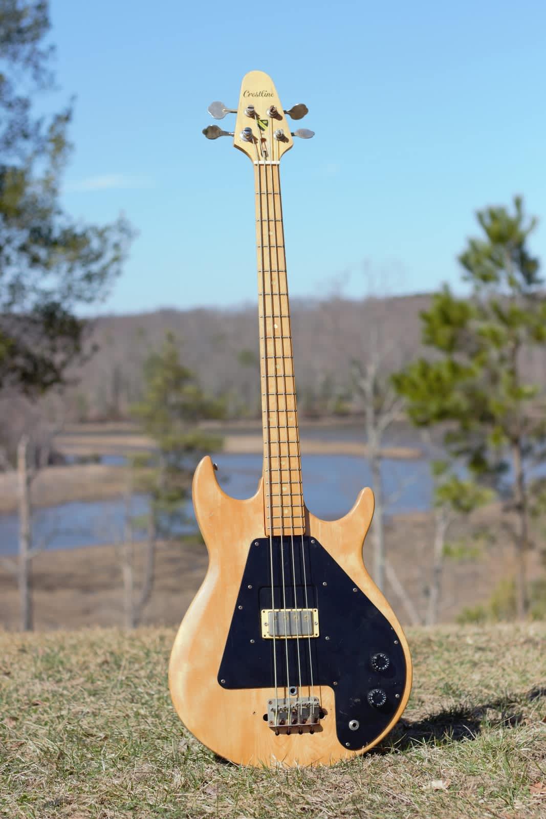 1970 39 s crestline lawsuit grabber copy bass guitar project reverb. Black Bedroom Furniture Sets. Home Design Ideas