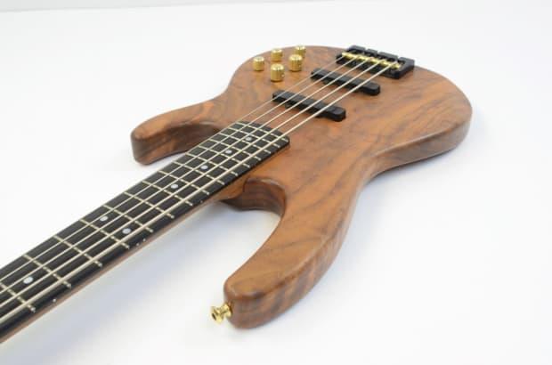 carvin 5 string electric bass guitar koa w gig bag reverb. Black Bedroom Furniture Sets. Home Design Ideas