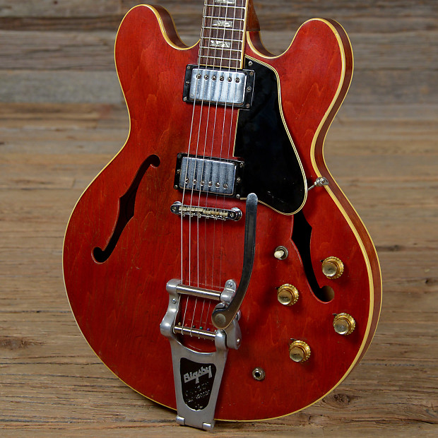 gibson es 335 w bigsby cherry 1968 s588 reverb. Black Bedroom Furniture Sets. Home Design Ideas