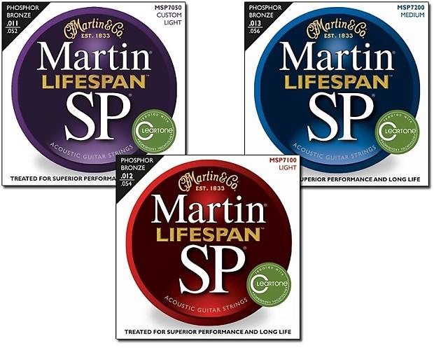martin lifespan sp phosphor bronze acoustic guitar strings reverb