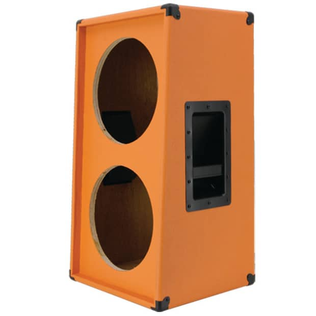2x12 Vertical Guitar Speaker Empty Cabinet Orange Tolex Reverb