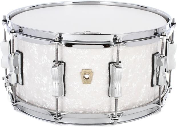 ludwig classic maple snare drum 6 5 x14 white marine pearl reverb. Black Bedroom Furniture Sets. Home Design Ideas