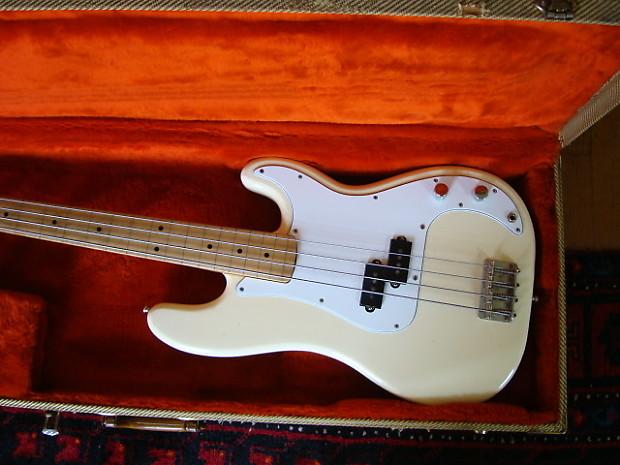 fender precision bass 1984 white 1957 neck 1962 body first reverb. Black Bedroom Furniture Sets. Home Design Ideas