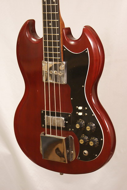 1960 39 s vintage harmony marquis eb 0 electric bass guitar made reverb. Black Bedroom Furniture Sets. Home Design Ideas