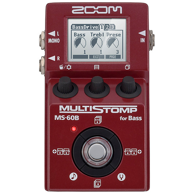 zoom ms 60b multistomp bass guitar effects pedal reverb. Black Bedroom Furniture Sets. Home Design Ideas