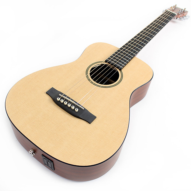 martin lxme acoustic electric travel guitar natural reverb. Black Bedroom Furniture Sets. Home Design Ideas