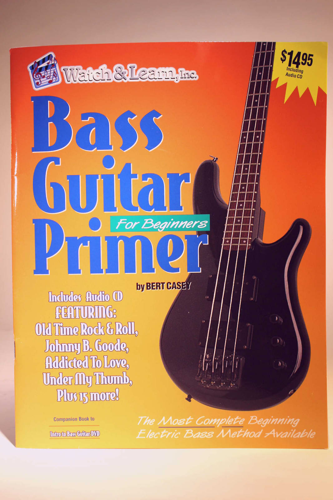 watch learn bass guitar for beginners with audio cd reverb. Black Bedroom Furniture Sets. Home Design Ideas