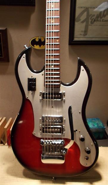 norma teisco baritone electric guitar 1970s sunburst mij reverb. Black Bedroom Furniture Sets. Home Design Ideas
