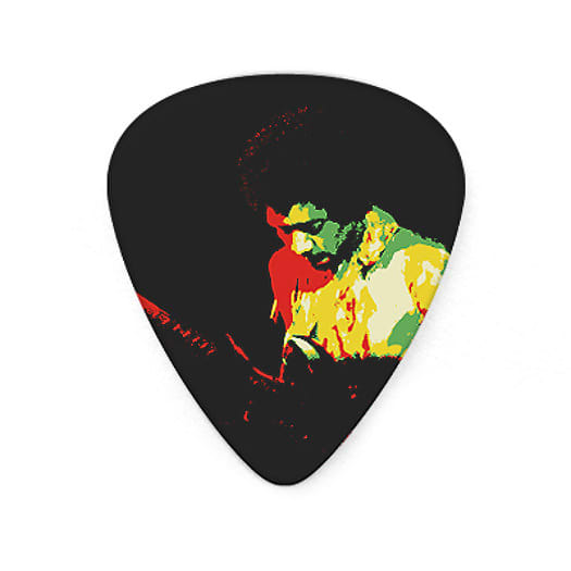 jimi hendrix guitar picks collectible frontline montage with reverb. Black Bedroom Furniture Sets. Home Design Ideas