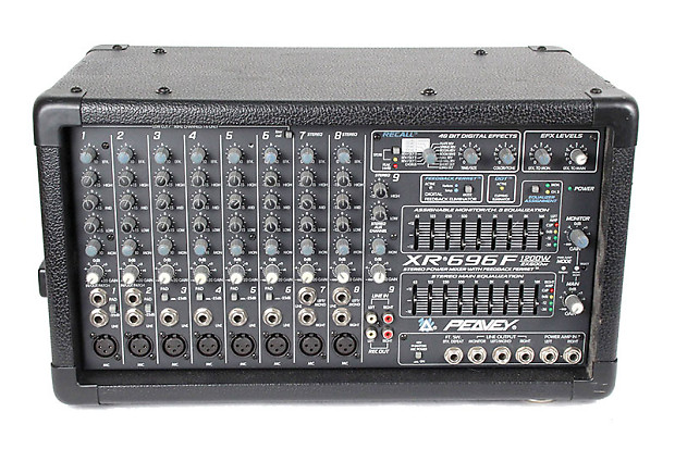 Peavey 696f 2 X 600w 8 Channel Powered Mixer Reverb
