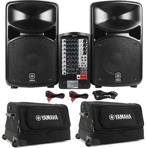 Yamaha stagepas 600i 680 watt portable pa system w 2 for Yamaha pa system