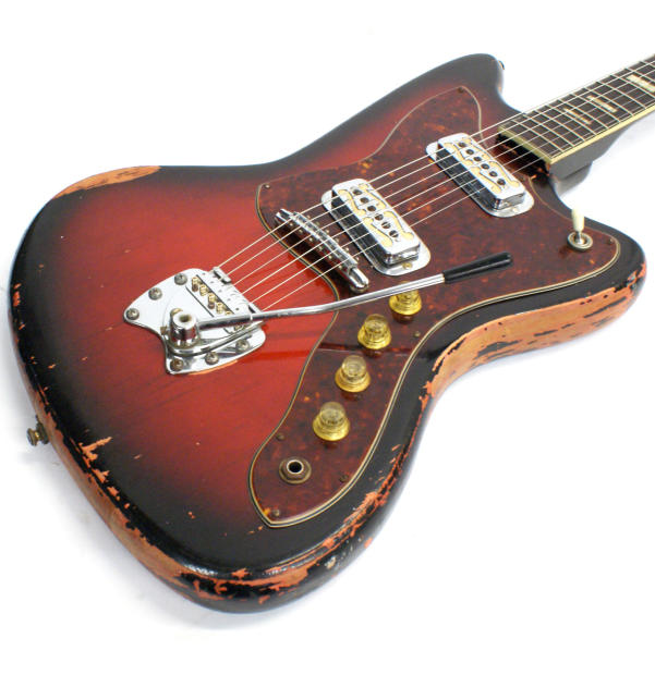 1963 harmony h 19 silhouette with the hagstrom vibrato bridge with adjustable saddles reverb. Black Bedroom Furniture Sets. Home Design Ideas