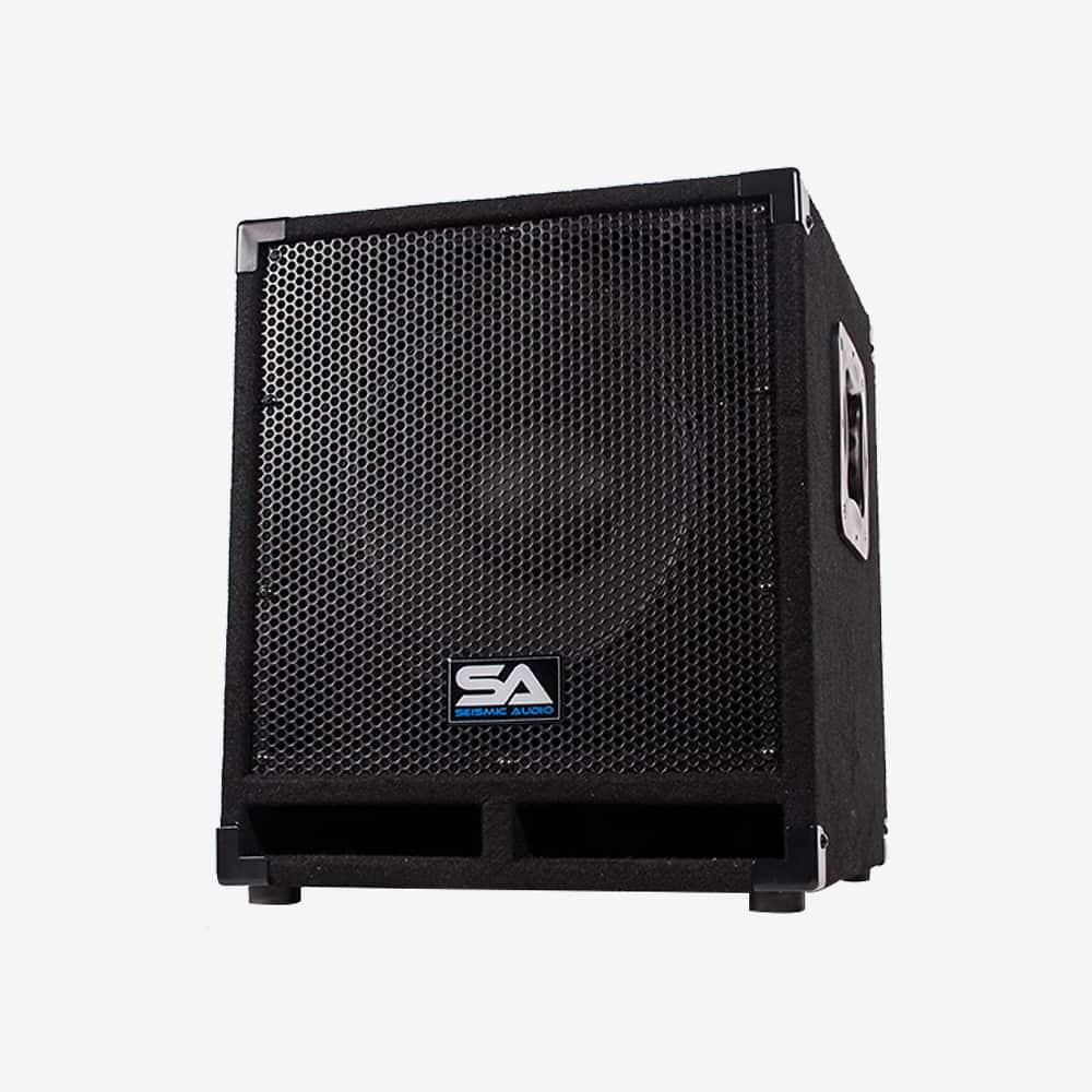seismic audio powered 12 pro audio subwoofer cabinet pa reverb. Black Bedroom Furniture Sets. Home Design Ideas