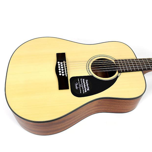 brand new fender cd100 12 string acoustic guitar in natural reverb. Black Bedroom Furniture Sets. Home Design Ideas