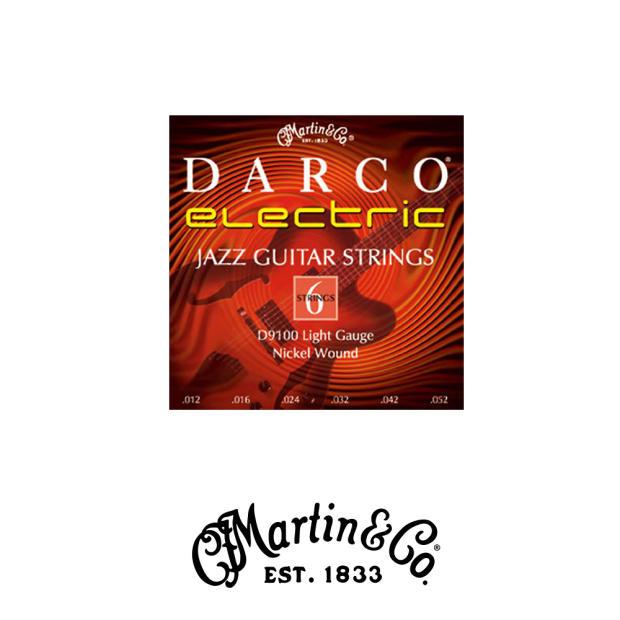martin d9100 darco electric guitar strings jazz light reverb. Black Bedroom Furniture Sets. Home Design Ideas