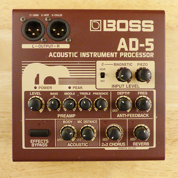 boss ad 5 acoustic instrument processor guitar effects reverb. Black Bedroom Furniture Sets. Home Design Ideas