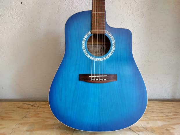 Art Amp Lutherie Wild Cherry Cw Acoustic Guitar Used Reverb