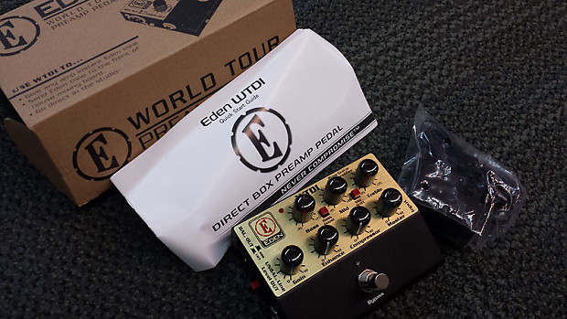 eden wtdi world tour bass direct box preamp pedal open box reverb. Black Bedroom Furniture Sets. Home Design Ideas
