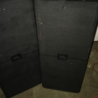 Pair of JBL SRX 722 Speakers with Covers