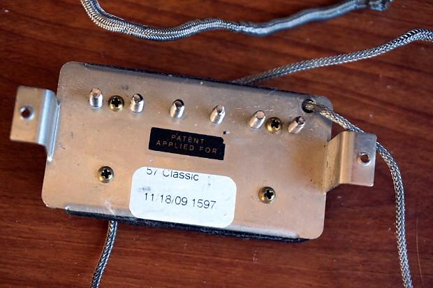 gibson humbucker pickup set 57 neck 57  bridge uncovered