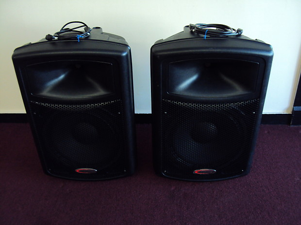 harbinger aps15 2 way 15 powered p a speakers pair reverb. Black Bedroom Furniture Sets. Home Design Ideas