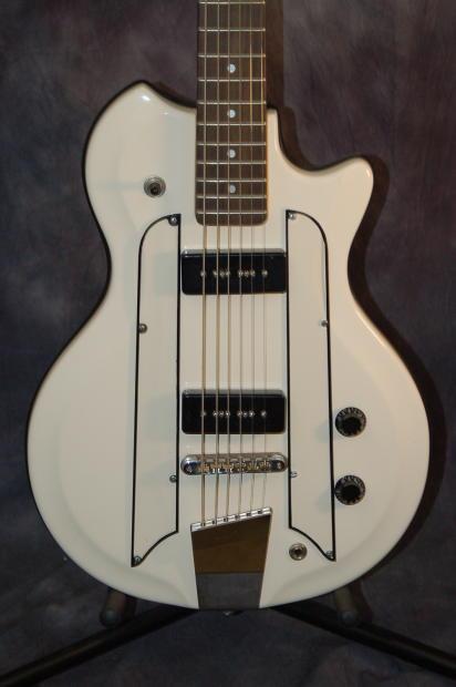 danelectro baritone bass vi modded guitar brand new profiles gigbag 2015 white resoglass reverb. Black Bedroom Furniture Sets. Home Design Ideas