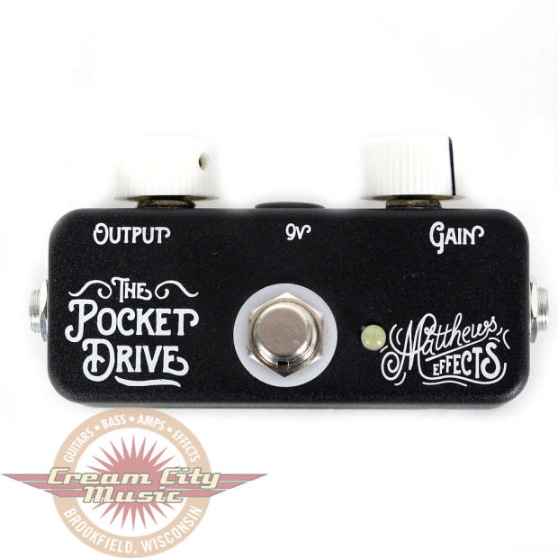 brand new matthews effects pocket drive overdrive guitar pedal reverb. Black Bedroom Furniture Sets. Home Design Ideas
