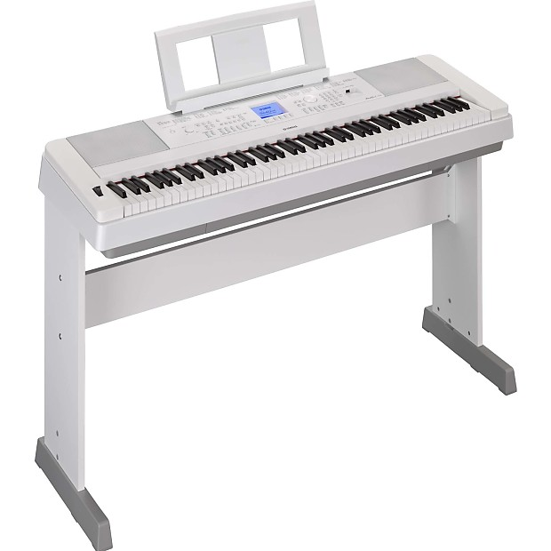 Yamaha dgx 660 portable grand electric piano white reverb for Electric grand piano yamaha