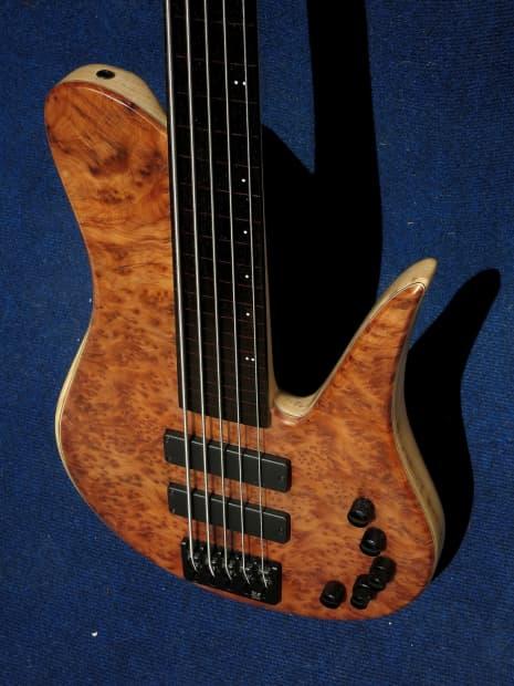jcr custom bass fretless 5 strings 2016 natural reverb. Black Bedroom Furniture Sets. Home Design Ideas