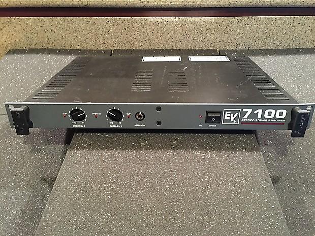 electro voice ev7100 power amplifier reverb. Black Bedroom Furniture Sets. Home Design Ideas