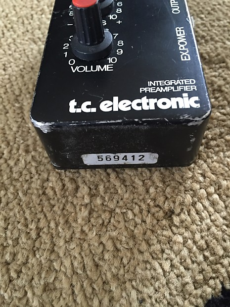 Tc Electronic Integrated Preamp Pedal Rare T C