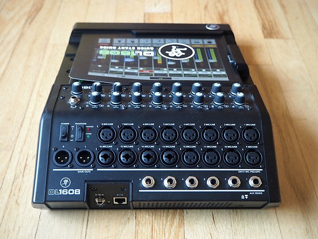 mackie dl1608 16 channel digital mixer onyx preamps flight reverb. Black Bedroom Furniture Sets. Home Design Ideas