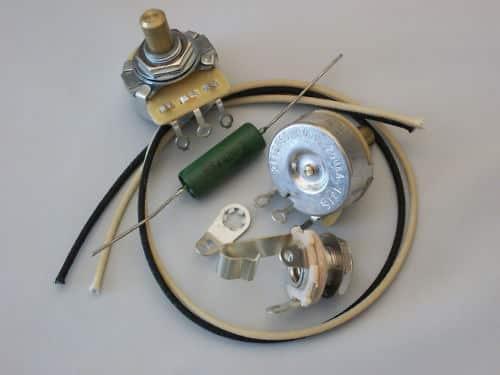 custom spec wiring harness upgrade kit for p bass cts pots ... hard start capacitor start run capacitor wiring diagram