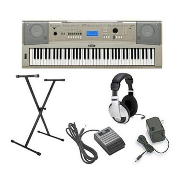 Yamaha ypg 235 keyboard package grey with headphones for Yamaha ypg 235 keyboard