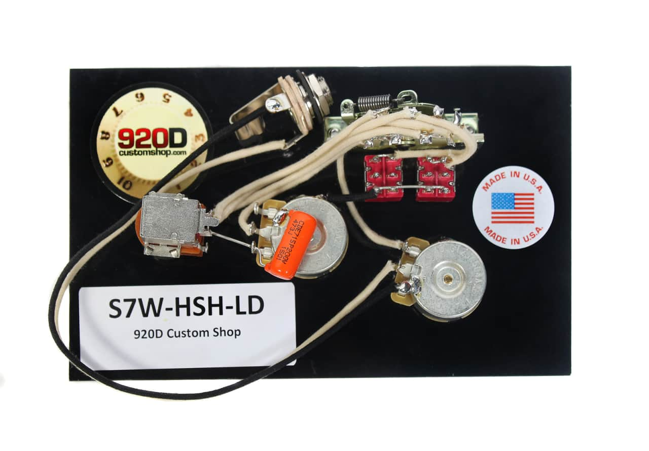 fender strat 920d 7 way hsh wiring harness for lace dually reverb. Black Bedroom Furniture Sets. Home Design Ideas