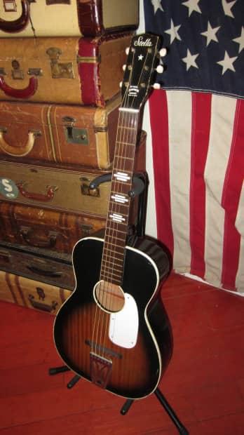 harmony stella acoustic guitar 1960 39 s sunburst reverb. Black Bedroom Furniture Sets. Home Design Ideas