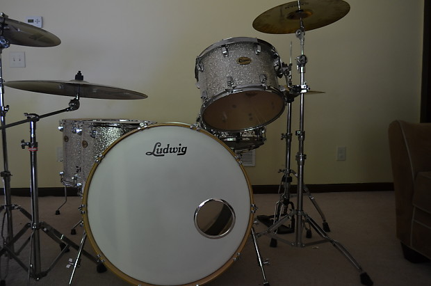 Ludwig Centennial Maple Full Zep Set Silver Sparkle