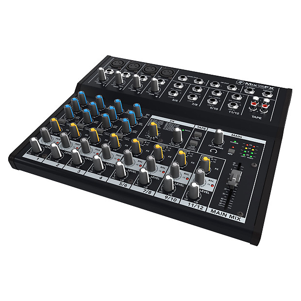 mackie mix12fx 12 channel compact mixer with effects used reverb. Black Bedroom Furniture Sets. Home Design Ideas