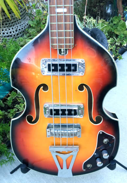 Jm Auto Sales >> 1960's Sekova Hollow Body Bass Guitar Hofner Copy | Reverb