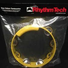"Rhythm Tech True Colors 8"" Yellow Tambourine w/ Nickel Jingles image"
