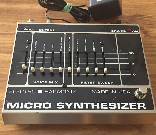 electro harmonix micro synthesizer ehx microsynth w wood box reverb. Black Bedroom Furniture Sets. Home Design Ideas