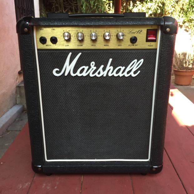 marshall lead 12 combo 5005 mid 80 39 s reverb. Black Bedroom Furniture Sets. Home Design Ideas