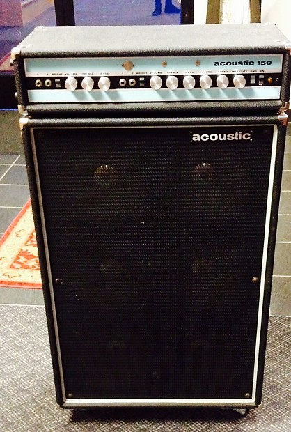acoustic 150 guitar amp head and 610 cabinet with original reverb. Black Bedroom Furniture Sets. Home Design Ideas