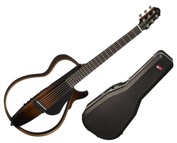 Yamaha slg200s steel string silent guitar trans black for Yamaha slg200s steel string silent guitar