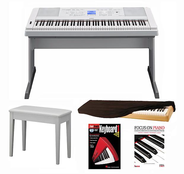 Yamaha dgx 660 portable grand electric piano white 5 for Yamaha dgx 660 bundle